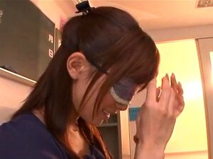Minami Kojima naughty Asian milf in glasses in bukkake. Minami Kojima is a hot Asian teacher getting a fantasy come true. She is in the classroom with several horny guys ready with their hard cocks in this nasty foursome! She sucks cock in a double blowjob and serves up incredible hand jobs as well before getting covered in cum bukkake style!