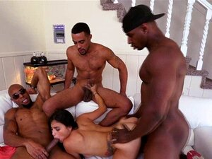 Big ass latina Michelle Martinez and 3 black big cocks. Brunette Michelle Martinez is petite big ass latina lass and she met with 3 black guys and sucking their black big dicks and gets hardcore gangbang fuck