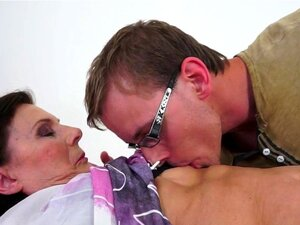Pussy fucked grandmother gets creampied. Pussy fucked grandmother gets her hairy pussy creampied after sucking cock