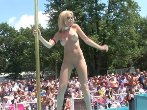 Horny pornstar in exotic brazilian, redhead porn movie, Hot, real women with big boobs compete in a striptease contest in front of hundreds of people in this outdoor celebration of public nudity that is this segment from DreamGirls' Real Adventures 135, working their bodies as the work the crowd.