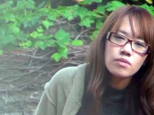 Asian teen rubs herself