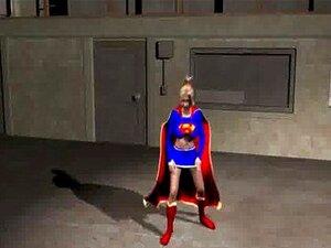 3D Supergirl เย็ดลูก musclular