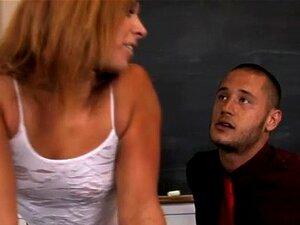 Schoolgirl and teacher get hot