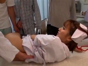 Kokone Mizutani adores bondage very much. Filthy and very naughty Japanese AV model Kokone Mizutani is acting this time as a wild nurse. Our hot MILF is obviously in love with group action and hereby spreads her legs without any hesitation at all! Passionate fingering and pussy licking are gonna make her cum!
