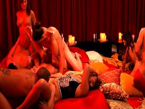 Horny swingers enjoyed massive orgy in Playboy mansion