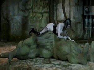 3D orc ได้รับระยำ โดยทารกกับสายบนหี