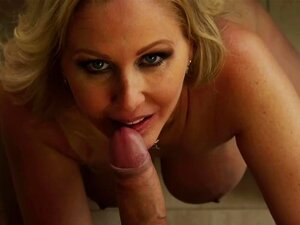 Julia Ann & Danny Mountain in Seduced by a Cougar, Julia Ann really appreciates her grocery delivery man.  He's always spot on and never forgets a thing.  In order to thank him, Julia decides to give him a special tip by sticking his tip in her mouth.  She has him bang her all over the kitchen counter.  This was definitely one of the best tips this delivery man has ever received.