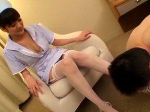 Hottest Japanese slut Rei Mizuna in Fabulous Handjobs, Stockings JAV clip