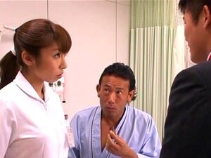 Mika Kayama Obscene Asian nurse smells like sex, Mika Kayama is a busty Asian nurse who enjoys tit sucking. She is sexy in her white lingerie! She has a hairy pussy made for fingering, and pussy licking. Her guy is into  tit squeezing before she gives a  double blowjob, taking tuerns on two hard cocks as she is deep throating and licking the heads of her two cocks. She will get a  doggy-style fucking from one of her guys and then she will be riding cock on the other guy. She is happily fucking these guys with a load of cum on her face, and a load of cum in her mouth. She enjoys her work, and hospital fucks! Mika Kayama is quite a nurse!