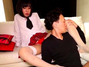 Japanese newhalf amateur sucked before anal, Japanese newhalf amateur sucked before anal with this lucky guy