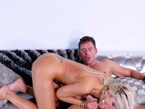Nina Elle gets pounded. Busty Nina Elle gets pounded while masturbating after blowjob