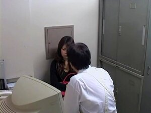 After interrogation, inspector fucked a Japanese floozy , Pervy Japanese inspector decided to fuck one of his suspects. One cute bitch was his choice and he fucked her very hard in front of a spy cam. She took off her clothes and got shagged in doggy style.