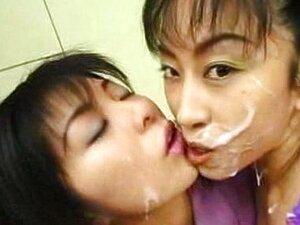 นับถอยหลังสเปิร์ม (Bukkake เลสเบี้ยนจูบ)