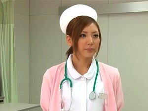 Stunning Japanese nurse gets creampied after being roughly p