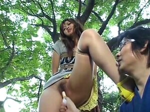 Saori in Epilogue. This uncensored video stars an actress named Saori and it is sort of a fetish video with Saori tied up to a tree in the beginning of the video, followed by a cage scene, a fudge and cream covered Saori getting banged and more. If you like very slim girls with natural small breasts, you gotta check out this skinny Saori girl.
