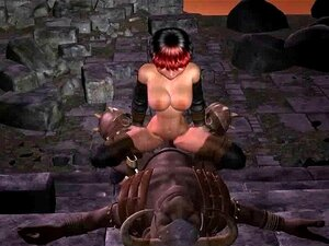 3D Lara Croft ดูดควย และเย็ดสัตว์ประหลาด