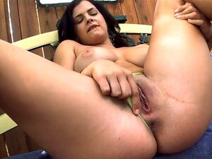 Anal hole penetrated by sex toy