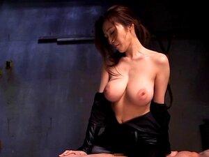 Japanese fetish babe gets cumshot over bigtits