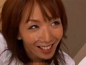 Shiho Asian teacher is nasty and gets gangbanged, Shiho is a hot Asian teacher in a gangbang! She gets her hairy pussy fingered while doing some hand work before giving a double blowjob and gets cum on her pretty face. She gets a rear fucking and is inserted onto a cock for a ride and some deep penetration while getting another load of cum in her sexy mouth! Shiho is a naughty Asian teacher who enjoys fucking her students!