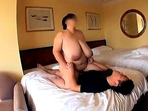 Huge breasted Oriental lady enjoys a wild ride of fucking