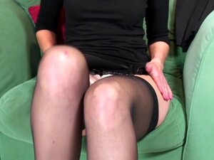 Penny Brooks smokes the cigarette and masturbates her shaved snatch - Penny Brooks