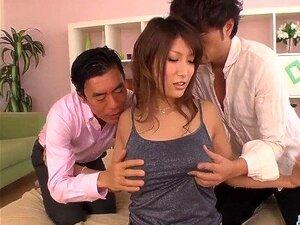 Busty Yume Mizuki working on two hard dicks - More at javhd net