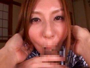 Beautiful Yui Tatsumi sucks cock part2