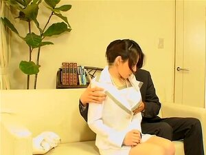 Interview with japanese broad ends up with a fuck session, A japanese slut came for an interview but she had no idea that there were spy cameras in the office. To pass the test, she is asked to have sex with the boss and in this porn movie she achieves climax