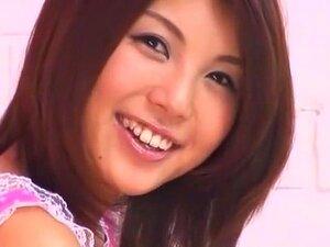 Fabulous Japanese slut Azumi Harusaki in Crazy Secretary, Handjobs JAV movie