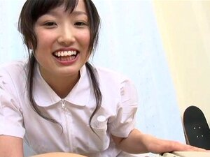 Hikari Matsushita nice teen is a horny Asian nurse, Hikari Matsushita is a naughty Asian nurse! she enjoys her patients and stroking cock is a favorite thing to do before swallowing his cock in a hardcore blowjob! She is a nice teen getting hand fucked with a dildo and other toys before inserting his cock for a dick ride and a creampie cunt!