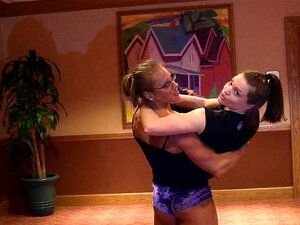 Monica vs Matrisse lift and carry, armwrestling