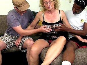 Cathy - Sloppy threesome with granny