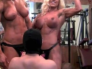 3 Girls in the Gym with Dildos