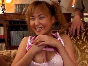 Yui Natsume busty sucks boners