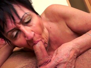 Granny slut gets creampie. Granny slut gets creampie after blowjob and hardcore sex