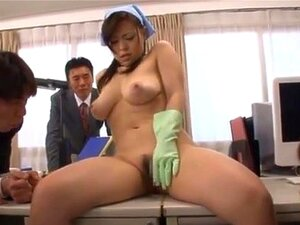 Reiko Nakamori cleans cock with her mouth!, Dont you just love this hot milf Reiko Nakamori, she sure is something fine and has the nicest huge boobs that I have seen in a long time. Here you will be seeing this hot hairy pussy babe in some really wild group action where you will be seeing her letting these guys take over her hairy pussy with a vibrator and lots of nice pussy licking too!